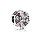 PANDORA Red Shimmering Gift Charm