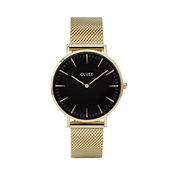 CLUSE La Bohème Black & Gold Mesh Watch