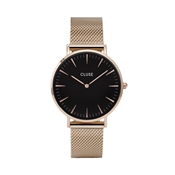 CLUSE La Bohème Mesh Black & Rose Gold Watch