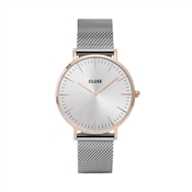 CLUSE La Bohème Rose Gold & Silver Mesh Watch
