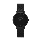 CLUSE Minuit Black Mesh Watch