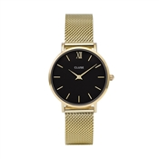 CLUSE Minuit Black & Gold Mesh Watch