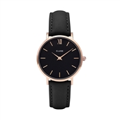 CLUSE Minuit Black & Rose Gold Watch