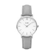 CLUSE Minuit Silver & Grey Watch