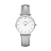 CLUSE Minuit Silver Metallic Watch