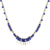 August Woods Blue & Gold Necklace
