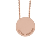 Olivia Burton Rose Gold Disc Necklace