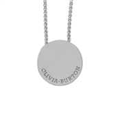 Olivia Burton Silver Disc Necklace