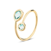 August Woods Turquoise Glass Open Ring