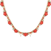 August Woods Red & Gold Necklace
