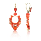 August Woods Red & Gold Earrings