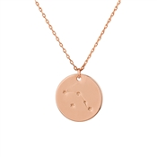Dirty Ruby Aries Constellation Necklace