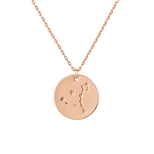 Dirty Ruby Pisces Constellation Necklace