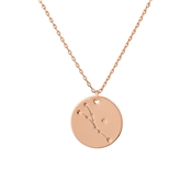 Dirty Ruby Taurus Constellation Necklace