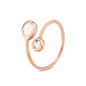 August Woods Pink Opal Open Ring