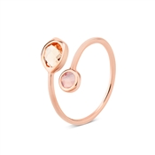August Woods Pink Glass & Rose Gold Ring