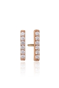 Sif Jakobs Siena Piccolo Rose Gold Bar Studs