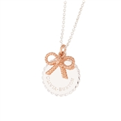 Olivia Burton Silver & Rose Gold Bow Necklace