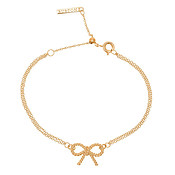 Gold Bow Bracelet by Olivia Burton