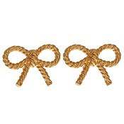 Gold Bow Earrings by Olivia Burton