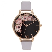 Olivia Burton Winter Garden Lilac & Rose Gold Watch