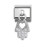 Nomination Hand of Fatima Hanging Charm