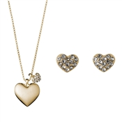 Pilgrim Gold Heart Gift Set