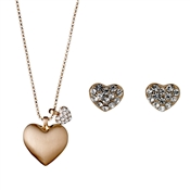 Pilgrim Rose Gold Heart Gift Set