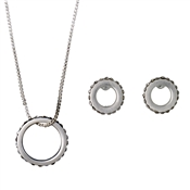 Pilgrim Silver Open Circle Gift Set
