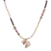 August Woods Pink & Gold Beaded Necklace