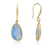 August Woods Gold & Blue Crystal Drop Earring