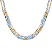 August Woods Blue Crystal Layered Necklace