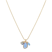 August Woods Blue & Gold Charm Necklace