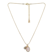Pink & Gold Charm Necklace by August Woods