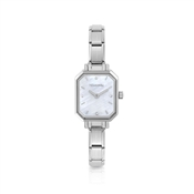 Paris Mother of Pearl Oblong Watch by Nomination