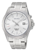 Seiko Mens Stainless Steel Kinetic Watch