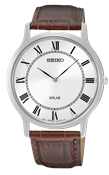 Seiko Mens Solar Brown Leather Watch