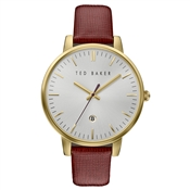 Ted Baker Burgundy Strap & Gold Kate Watch