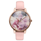 Ted Baker Pink Strap & Floral Dial Kate Watch