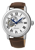 Seiko Mens Brown Leather Mechanical Watch