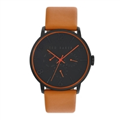 Ted Baker Men's Orange Strap & Black Dial James Watch