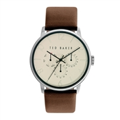 Ted Baker Men's Brown Strap & Cream Dial James Watch