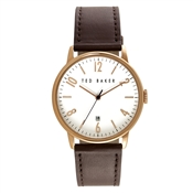 Ted Baker Men's Brown Strap & White Dial Daniel Watch