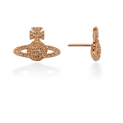 Vivienne Westwood Rose Gold Grace Stud Earrings