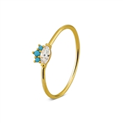 Argento Gold & Turquoise Ring