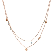 Argento Rose Gold & Turquoise Layered Necklace