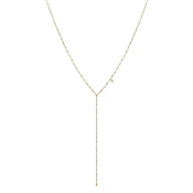 Argento Gold & Turquoise Lariat Necklace