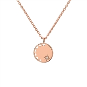 Argento Rose Gold Sun Necklace