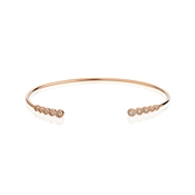 Argento Rose Gold Open Crystal Bangle