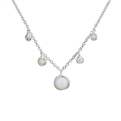 Argento Opal Drop Necklace